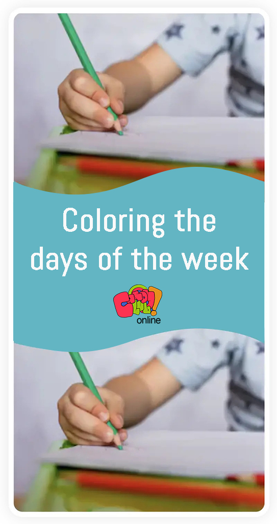 Coloring the day of the week - CC online